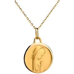 Contemporary Blessed Virgin Medal with slightly curved edges - 17mm