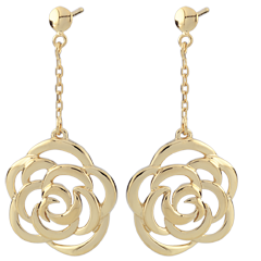 Couture Flower Pendant Earrings