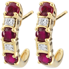 Creole Clarisse Ruby Earrings - 9 carats