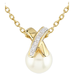 Cross-shaped Pearl Pendant