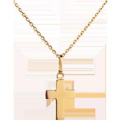 Cruce masivă - aur galben de 18K