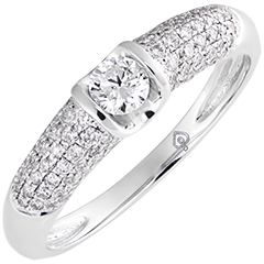 Destiny Engagement Ring - Diane - 9K White Gold and Diamonds