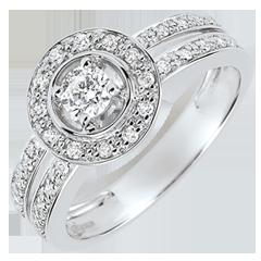 Destiny Engagement Ring - Lady - 0.16 carat diamond - white gold 18 carats