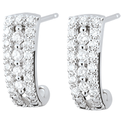 Destiny Hoop Earrings - Medici - diamonds and 18 carat white gold
