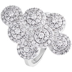 Destiny-Panache Ring - 9K white gold and diamonds