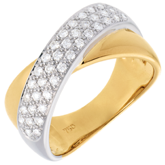 Diamantring Tandem - 0.4 Karat - 40 Diamanten
