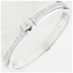 Diamentowa obrączka Tysiąc Cudów - złoto białe 18-karatowe