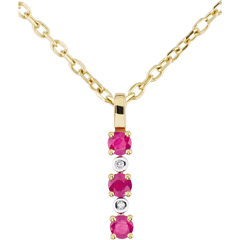 Diamond and Ruby Clarisse Pendant