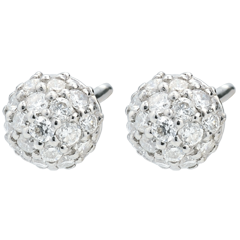 Diamond Charm Earrings - 18 carats