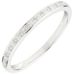 Diamond Flashes Wedding Ring - 18 carats