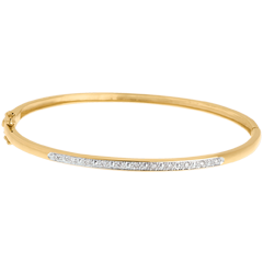 Diorama bangle/bracelet - 11 diamonds