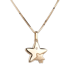 Duo Stars - large model - yellow gold - 9 carat