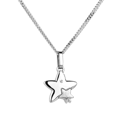 Duo Stars - small model - white gold