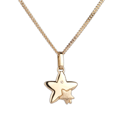 Duo Stars - small model - yellow gold