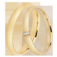 Duo trouwringen Dune 3 diamanten