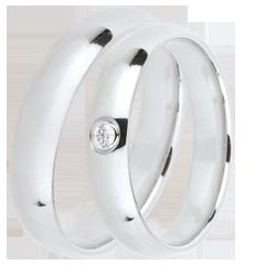 Duo trouwringen Extra 1 diamant