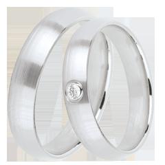 Duo trouwringen Ideaal 1 diamant