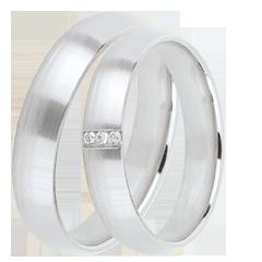 Duo trouwringen Ideaal 3 diamanten