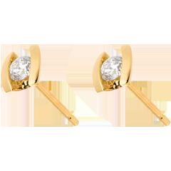 Earring Precious Nest - Caldera - yellow gold - 0.21 carat - 18 carats