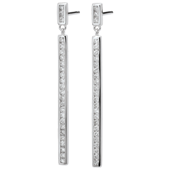 Earrings Constellation - Astral - white gold and diamonds - 18 carats