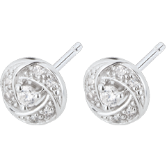 Earrings Destiny - Arthemis - white gold and diamonds