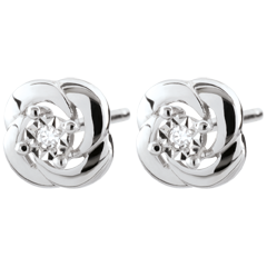Earrings Freshness - Camélia - white gold