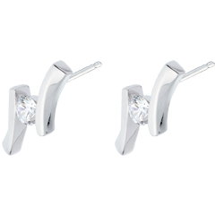 Earrings Precious Nest - Apostrophe (TGM) - white gold - 0.31 carat - 18 carats