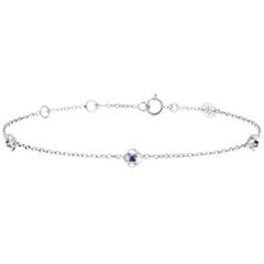 Eclosion Bracelet - Roses Crown - sapphires - 9 carat white gold