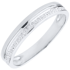 Elegance Wedding Ring - White gold - 18 carats