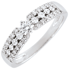 Engagement Ring Destiny - Medici - white gold - 0.10 carat