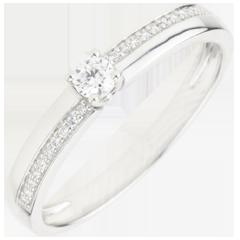 Engagement Ring Destiny - Wonder - white gold - 18 carats
