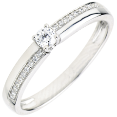 Engagement Ring Destiny - Wonder - white gold - 9 carats