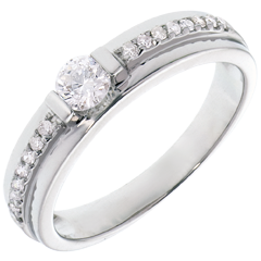 Engagement Ring Solitaire Destiny - Eugenie - 0.22 carat diamond