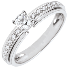 Engagement Ring Solitaire Destiny - My Queen - variation - white gold