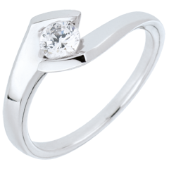 Engagement ring summer evening white gold - 0.32 carat