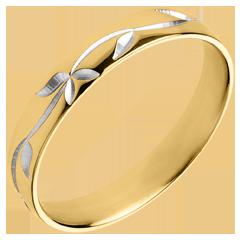 Fede Freschezza - Edera incisa - Oro giallo - 18 carati