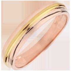 Fede nuziale Elio - Oro rosa e Oro giallo - 18 carati