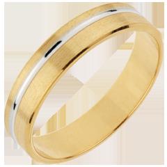 Fede nuziale - Emmanuel - Oro giallo e Oro bianco - 18 carati