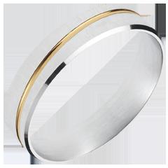 Fede nuziale - Felix - Oro bianco e Oro giallo - 18 carati