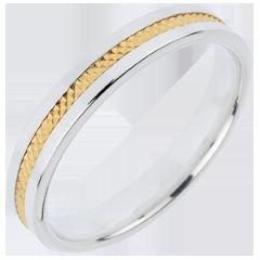 Fede nuziale - Giulietta - Oro bianco e Oro giallo - 18 carati