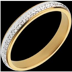 Fede nuziale - Pandorane - Oro bianco e Oro giallo - 18 carati