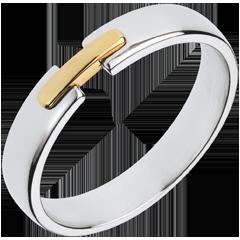 Fede nuziale - Unico e Prezioso - Oro bianco e Oro giallo - 18 carati