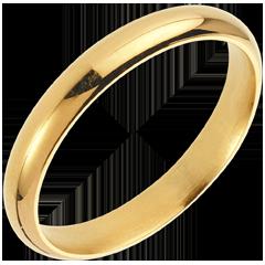 Fede nuziale Valzer - Oro giallo - 18 carati