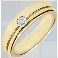 Fede Olympia Diamante - modello grande -Oro giallo - 18 carati - Diamante - 0.15 carati