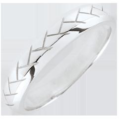 Fede Tessitura - Oro bianco - 9 carati