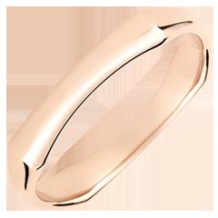 Fede uomo Giungla Sacra - 4 mm - oro rosa 18 carati