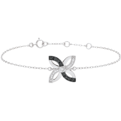 Freshness Bracelet - Lilies of summer - white gold and black diamonds