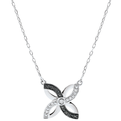 Freshness Necklace - Summer Lilies - white gold and black diamonds