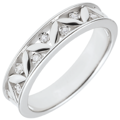 Freshness wedding ring - Ancient Rome - white gold - 7 diamonds - 9 carats