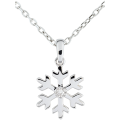 Frosted Flake Diamond Pendant